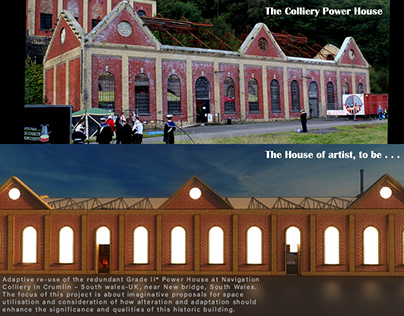 Adaptive re-use of The Colliery Power House. Wales, UK