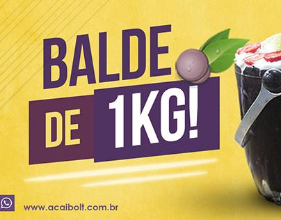 Campanha - Balde de 1kg Açaí Bolt