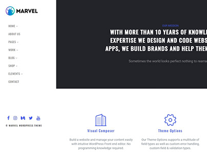 Home Start Page - Marvel WordPress Theme