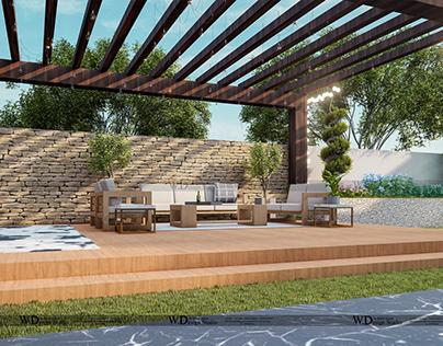 Landscape Project ( Backyard ) Design By Wahab Ahmad