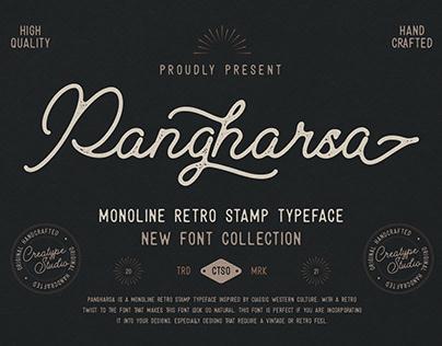 PANGHARSA MONOLINE RETRO STAMP - FREE FONT