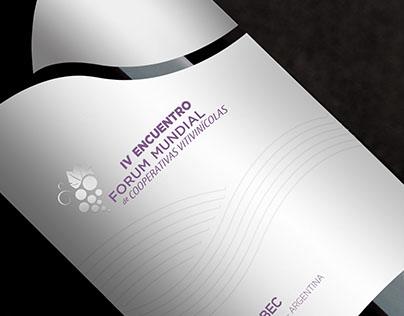 Etiqueta IV Forum de Cooperativas Vitivinícolas