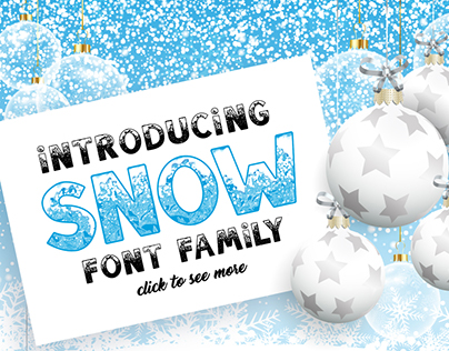 SNOW Font Family - include Color Font!