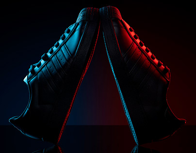 Black Adidas Superstars #2