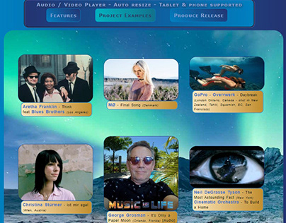 Auto responsive Audio / Video Player page