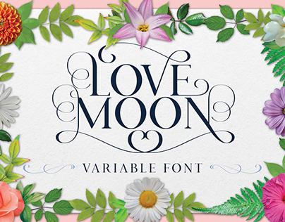 Love Moon Typeface