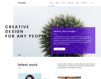 Grande - Web Design