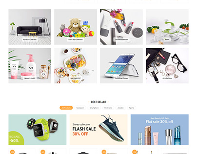 Arwababa Online shopping website design