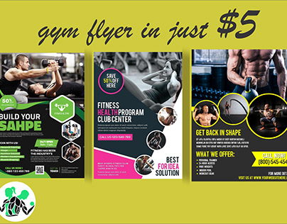 i will make perfect fitness, gym,sports flyer brochure