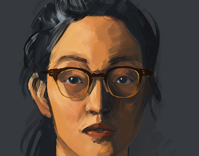 Self Portrait in Adobe Fresco Oil Brushes