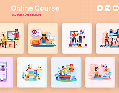 Online Course Illustrations