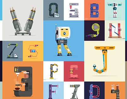 36 Days Of Type - 2017 (Machines & Robots)