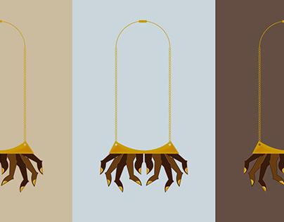 Anguli Maalaya - Finger necklace