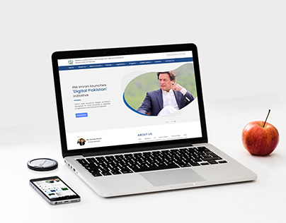 Ministry of Information Technology Website UI Design