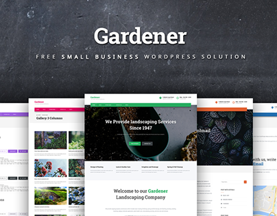Gardener - small business solution free Wordpress theme