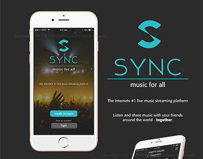 SYNC Music Streaming / Broadcasting App Design