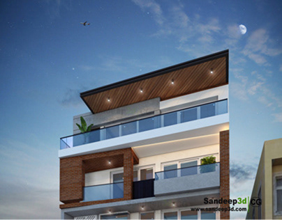 Modern House facade design