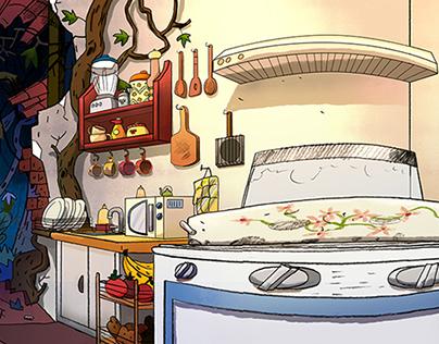 Coloreado Background - Juanito Diablo (Corto animado)