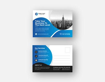 Corporate Modern Postcard or eddm Postcard design vol-5