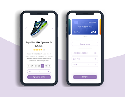 Product and Checkout screen