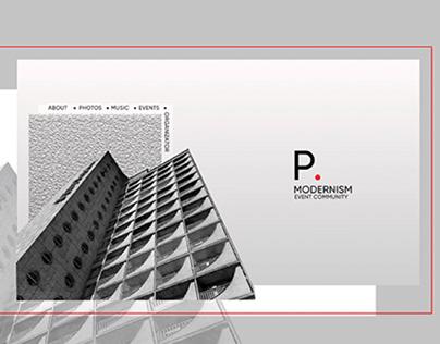 P.Modernism - Event Community Web Design