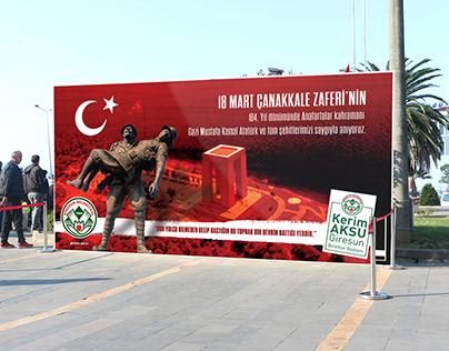 Giresun Belediyesi 18 Mart Çanakkale Zaferi Çalışması