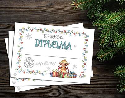 Diploma For 'Elf School'