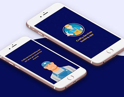 Crafty Services booking app-(Service provider app)