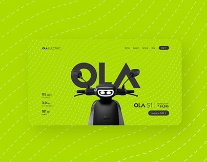 OLA Electric   Landing Page Design