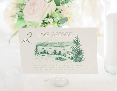 Wedding Table Card Illustrations