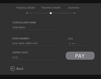 Daily UI 002-Credit card Checkout Form