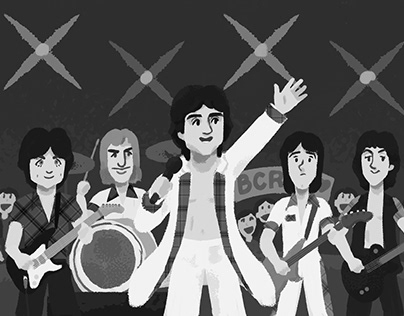 rock bands and musicians (drawn for Japanese magazine)