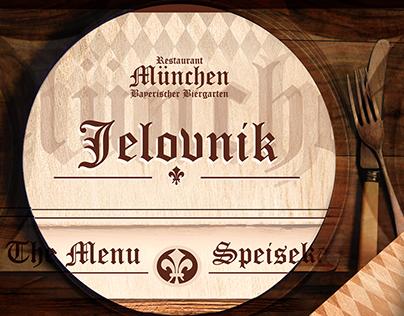 The Menu of Bavaria Munchen pub - my suggestion