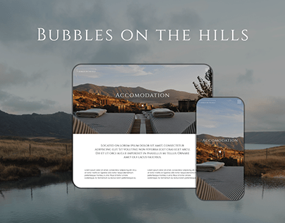 Website for hotel in the mountains