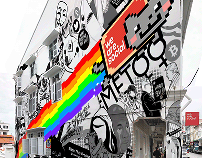 We Are Social: 10th Anniversary Mural
