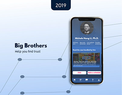 Big Brothers UI UX Lawyer Finder App