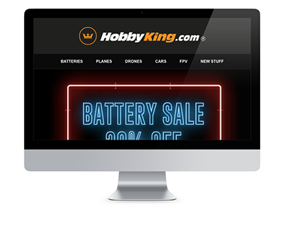 Battery Sale Electronic Direct Mail Design