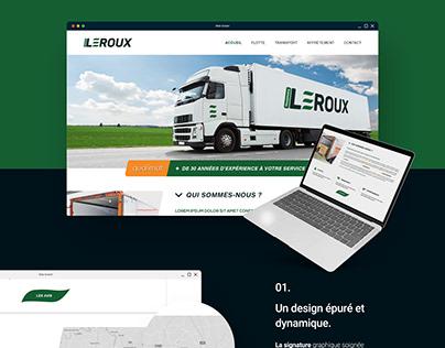 WEB DESIGN : Transports Leroux