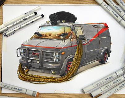 The A-team van / Mister T mashup
