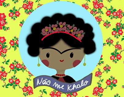 Ilustração Digital Frida Khalo Baby
