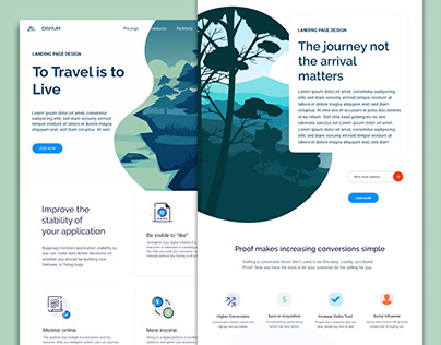 Design Concept for Travel Related Website