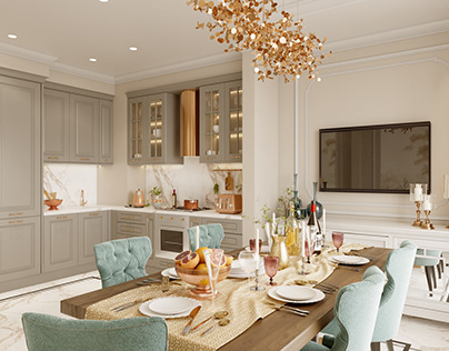Apartment in neoclassical style