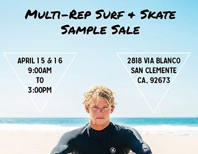 Sample Sale Flyers
