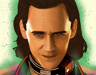 Loki Portrait drawing Oz Galeano