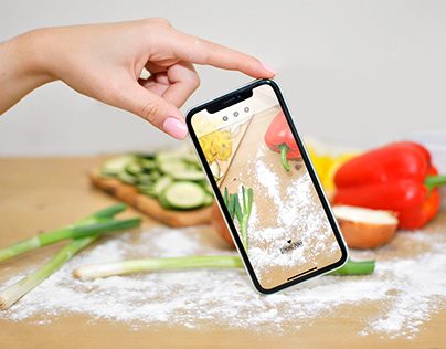 Free iPhone XR mockups (Cooking, Kitchen)