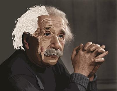 """Vector Art """"Albert Einstein"""""""