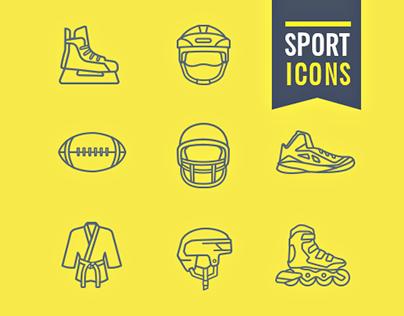 100 Sports Icons / Blc Studio