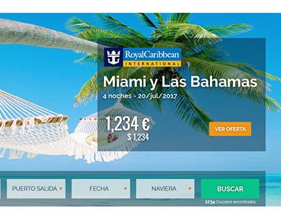 Diseño web app - Motor de búsqueda de cruceros