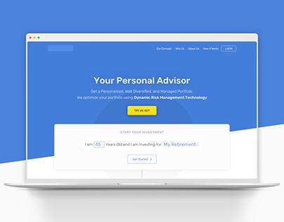Fintech Website Design (UI/UX Design)