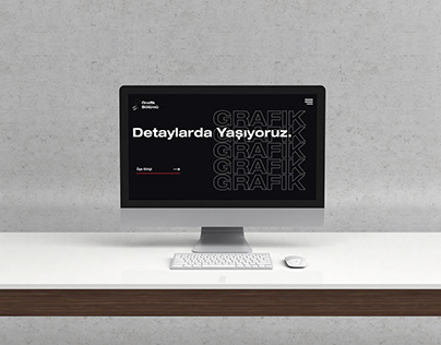 Grafik Bölümü Web sitesi Arayüz Tasarımı